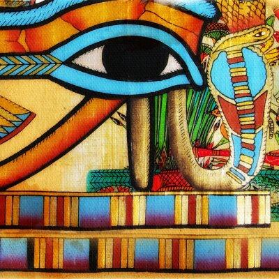Obraz Fragment egipskiego pergaminie Nicei