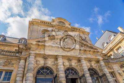 Obraz Fragment elewacji budynku głównym z posiadłości Vaux-le-Vicomte, Francja
