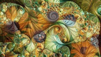 Obraz Fraktal abstrakcyjna wygenerowane komputerowo projektu. Fraktal to niekończący się wzór. Fraktale są nieskończenie złożonymi wzorami, które są samopodobne w różnych skalach.