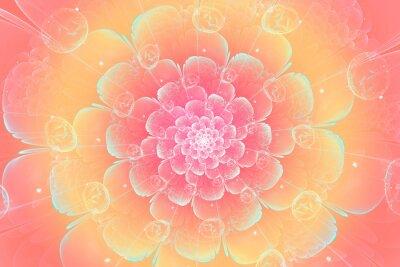 Obraz Fraktal kwiat brzoskwini, cyfrowe grafiki do Creative Graphic