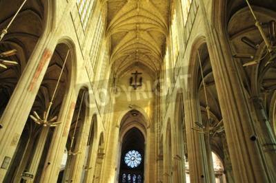 Obraz Francja, kolegiata św Gervais Saint-Protais od Gisors w Normandii