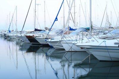 Obraz Francja Riviera, Zatoka morska z jachtów i łodzi