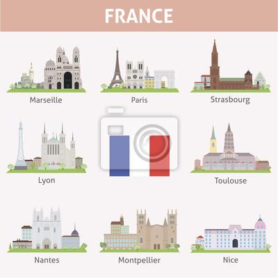 Francja. Symbole miasta