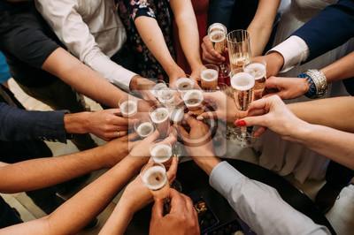 Obraz friends champagne celebrate party