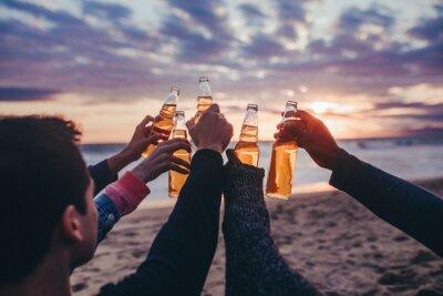 Obraz Friends drinking by the beach
