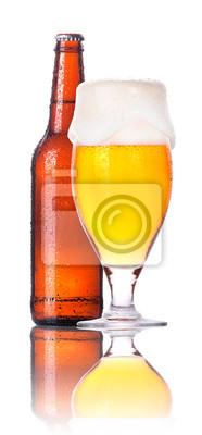 Frosty szklankę piwa z butelki samodzielnie