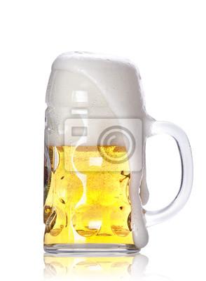 Frosty szkło z lekkiego piwa