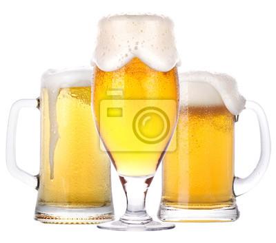 Frosty szkło z lekkiego piwa samodzielnie