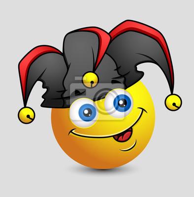 23b8969ce2 Obraz Funny Komiks Jester Emotikon Smiley emotikon na wymiar • zły ...