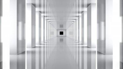 Obraz Futuristic. 3D. Futuristic Hallway