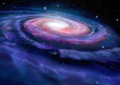 Obraz Galaktyka spiralna, Ilustracja Drogi Mlecznej