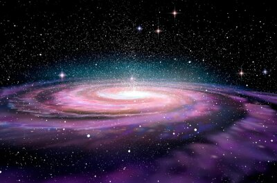 Obraz Galaktyka spiralna w głębokim spcae, ilustracji 3d