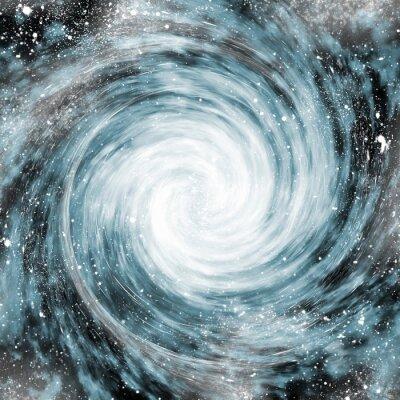 Obraz galaktyka spiralna w przestrzeni