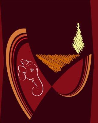 Obraz Ganesha Diwali card