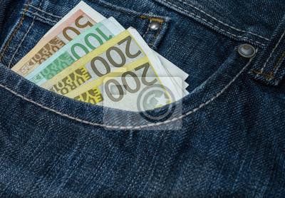 geldscheine w Jeanshose, Geld w dżinsach