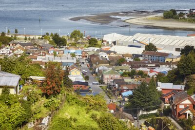 General view of the Puerto Montt port city, Chile