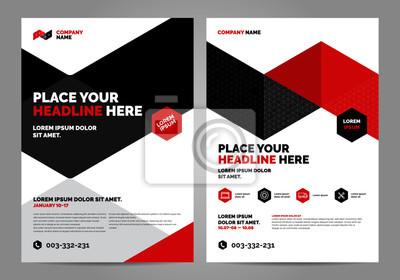 Geometria czerwony Broszura Szablon układu, tło projektu okładki, raporty roczne. Można dostosować do broszury, raportu rocznego, magazynu, plakatu, prezentacji korporacyjnej, portfolio, ulotki, baner
