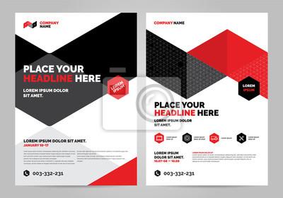 Geometria czerwony Broszura Szablon układu, tło projektu okładki, raporty roczne. Można dostosować do raportu rocznego, plakatu, ulotki, banera.