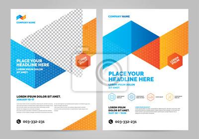 Obraz Geometria kolorowy szablon układu broszury, tło projektu okładki, raporty roczne. Można dostosować do broszury, raportu rocznego, magazynu, plakatu, ulotki, banera.