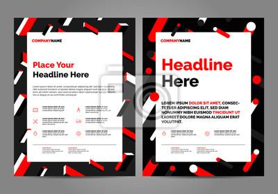 Geometria Red Broszura Szablon układu, tło projektu okładki, raporty roczne. Można dostosować do broszury, raportu rocznego, magazynu, plakatu, prezentacji korporacyjnej, portfolio, ulotki, baner, str