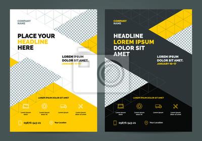 Geometria żółty Szablon układu broszury, tło projektu okładki, raporty roczne. Można dostosować do broszury, raportu rocznego, magazynu, plakatu, prezentacji korporacyjnej, portfolio, ulotki, baner, s