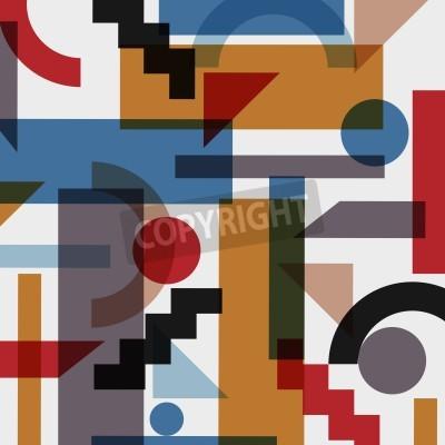 Obraz Geometryczne abstrakcyjne tło w stylu kubizmu. Wektor EPS 10