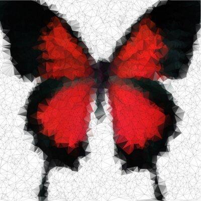 Obraz geometrycznej wielokąta motyl wektora tle z gradienty