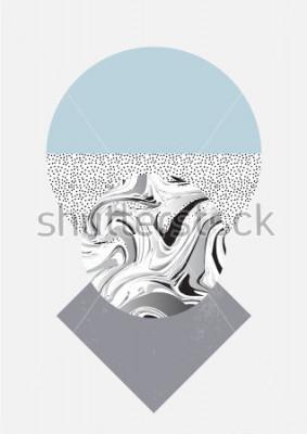 Obraz Geometryczny druk artystyczny, abstrakcyjny nowoczesny i modny design, minimalistyczna karta uniwersalna nordycka