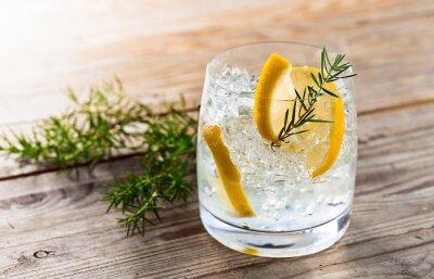 Obraz Gin z cytryną i lodem