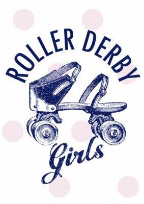 Obraz GIRL ROLLER