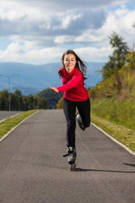 Obraz Girl rollerblading
