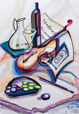 Obraz Gitara i winogron