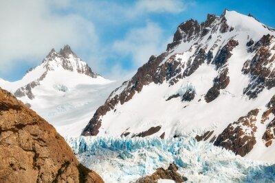 Glacier in the Fitz Roy Mountain Range, Argentina.