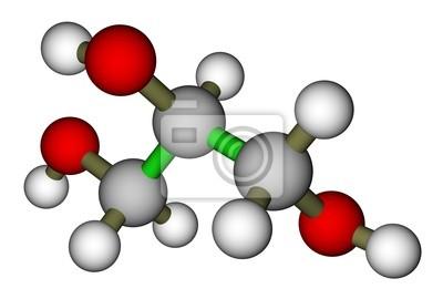 Gliceryna struktura molekularna