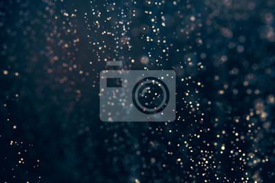 Obraz Glitter świeci abstrakcyjne tło. Nieostre bokeh ciemne ilustracji
