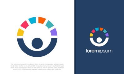 Obraz Global Community Logo Icon Elements Template. Community human Logo template vector. Community health care. Abstract Community logo. Social Networking logo designs.