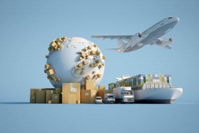 Obraz Global transportation industry
