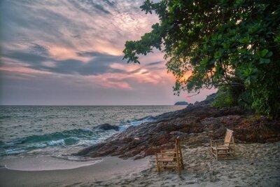 Gloomy tropical sunset