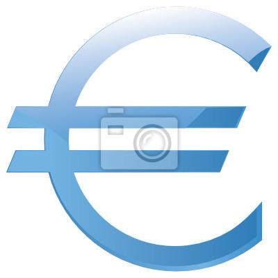 Obraz Glossy Znak Euro Element Projektu Vector Na Wymiar Sztuka