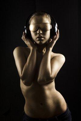 Obraz gold bodypainted dziewczynę