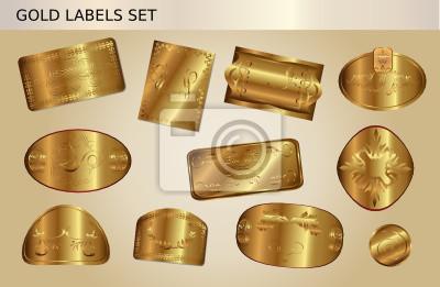 Gold Button Set 2