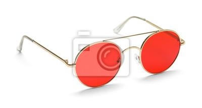 Obraz Gold Wire Red Lens Sunglasses