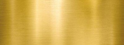Obraz golden metal brushed wide textured plate