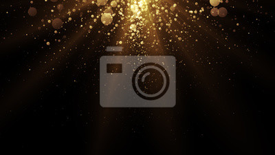 Obraz Golden particles. Abstract glamour background for celebration.