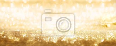 Obraz Golden sparkling party background