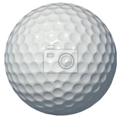 Obraz Golf ball isolated on white background 3d rendering