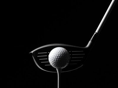 Obraz Golf Drewno z Ball Golf i Golf Tee