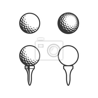 Obraz Golf Tee and ball Icon