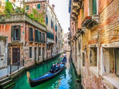 Obraz Gondola na kanale w Wenecji, Włochy