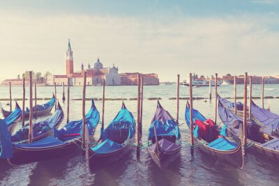 Obraz Gondole pływające w Canal Grande, Wenecja